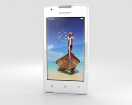 3D model of Lenovo A1000 Pearl White
