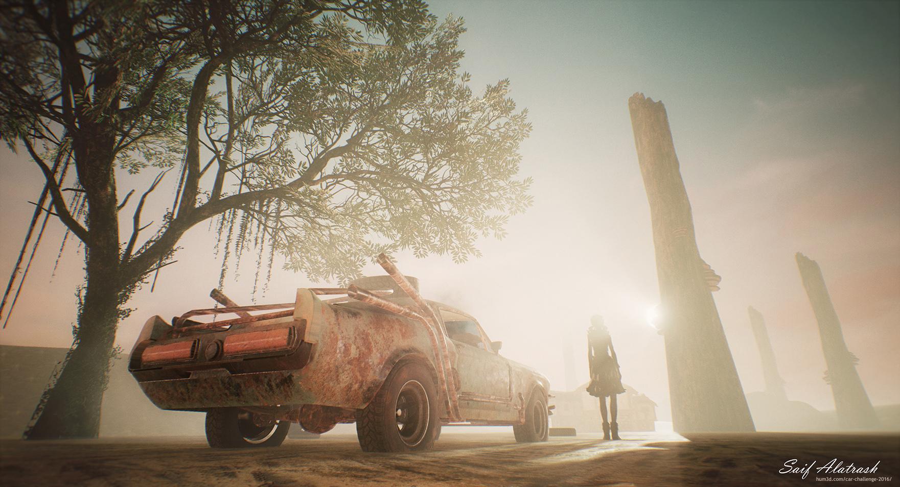 Last day at Sahara 3d art