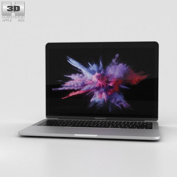 Apple MacBook Pro 13 inch (2016) Silver 3D model