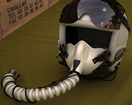 3D model of Flight Helmet