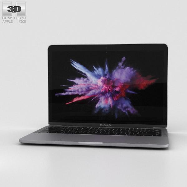 Apple MacBook Pro 13 inch (2016) Space Gray 3D model