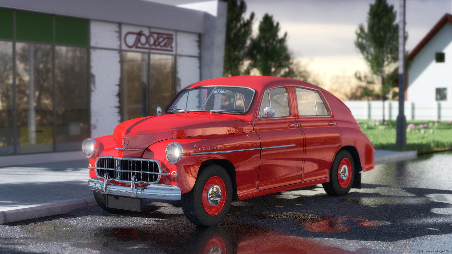 A dignitary's car 3d art