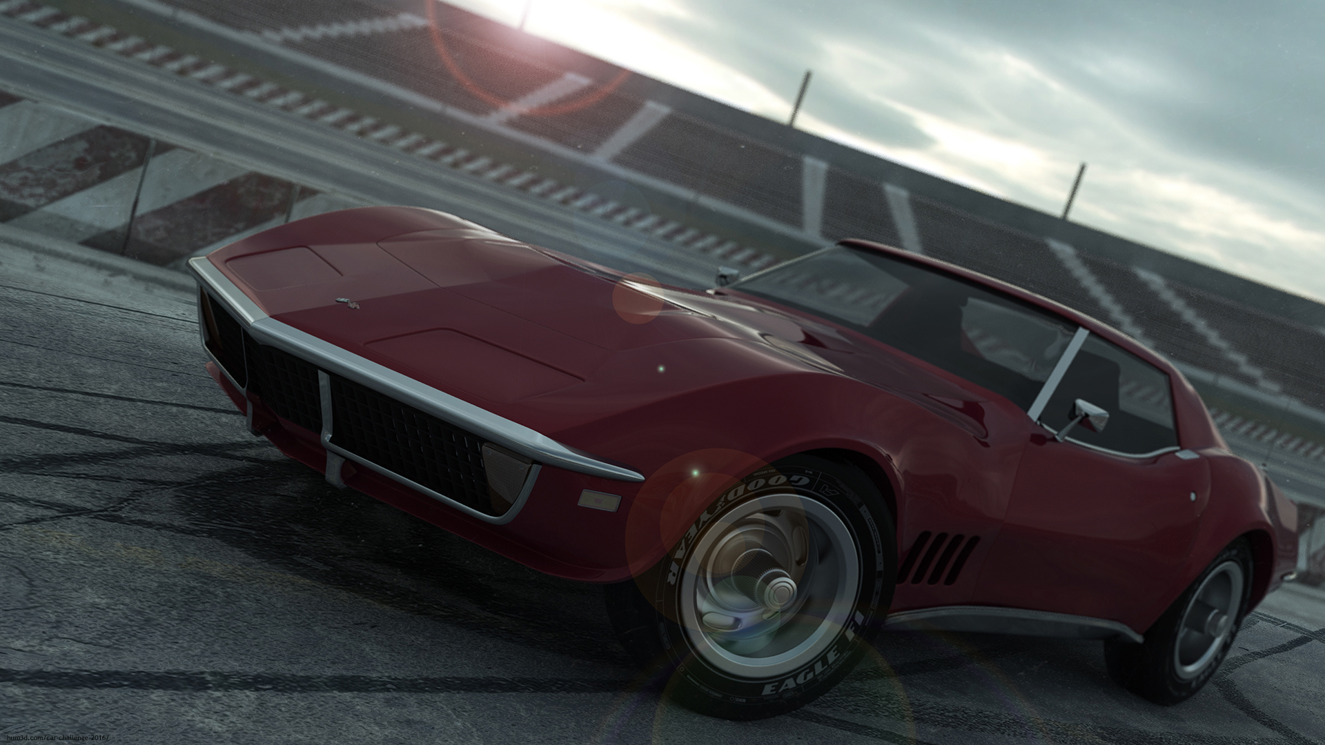 Chevrolet Corvette 1968 3d art