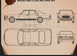 Mercedes-Benz S-Class (W126) 1979 Blueprint