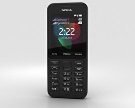 3D model of Nokia 222 Black
