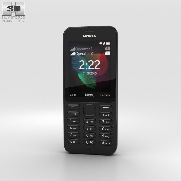 Nokia 222 Black 3D model