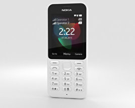 3D model of Nokia 222 White