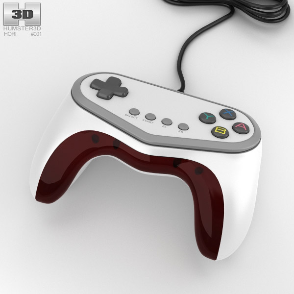 3D model of Hori Pokken Tournament Pro Pad Controller