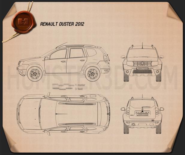 Renault Duster 2012 Blueprint