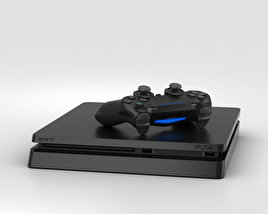 3D model of Sony PlayStation 4 Slim