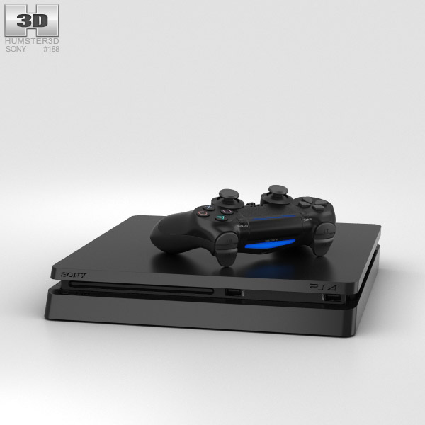 Sony PlayStation 4 Slim 3D model
