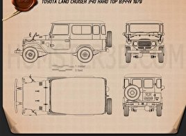 Toyota Land Cruiser (J40) Hard Top 1979 Blueprint