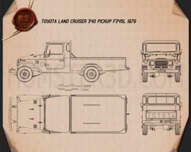 Toyota Land Cruiser (J40) Pickup 1979 Blueprint