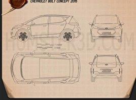 Chevrolet Bolt Concept 2015 Blueprint