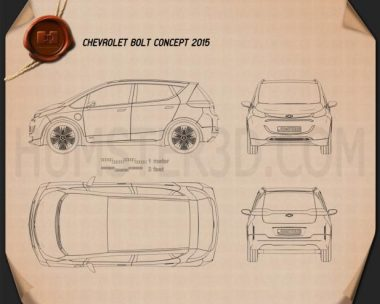 Chevrolet Bolt Concept 2015 Blueprint