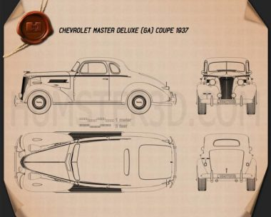 Chevrolet Master DeLuxe (GA) 1937 Blueprint