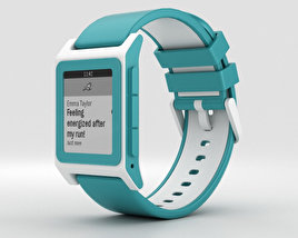 3D model of Pebble 2 Aqua / White