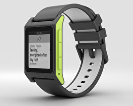 3D model of Pebble 2 Charcoal / Lime