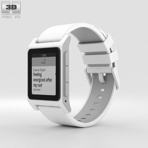 Pebble 2 White 3D model