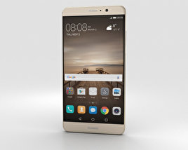 3D model of Huawei Mate 9 Champagne Gold