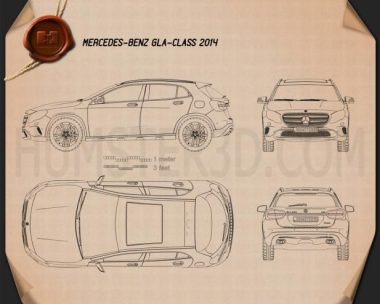 Mercedes-Benz GLA-class 2014 Blueprint