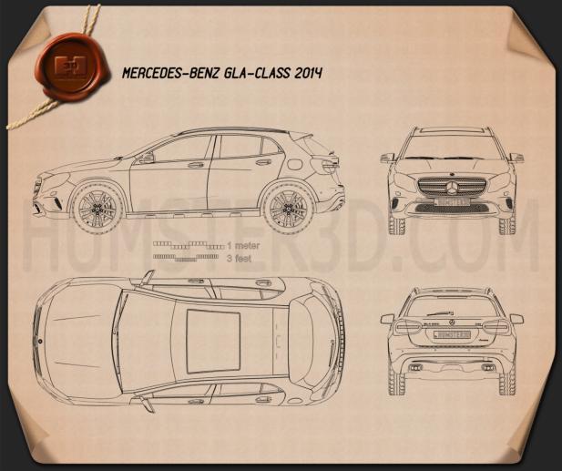 Mercedes-Benz GLA-class 2014 Blueprint
