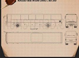 Mercedes-Benz Integro L 2013 Blueprint