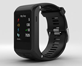 3D model of Garmin Vivoactive HR Black