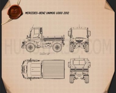 Mercedes-Benz Unimog U300 2012 Blueprint