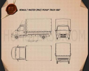 Renault Master Pickup 1997 Blueprint
