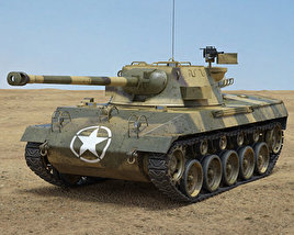 3D model of M18 Hellcat