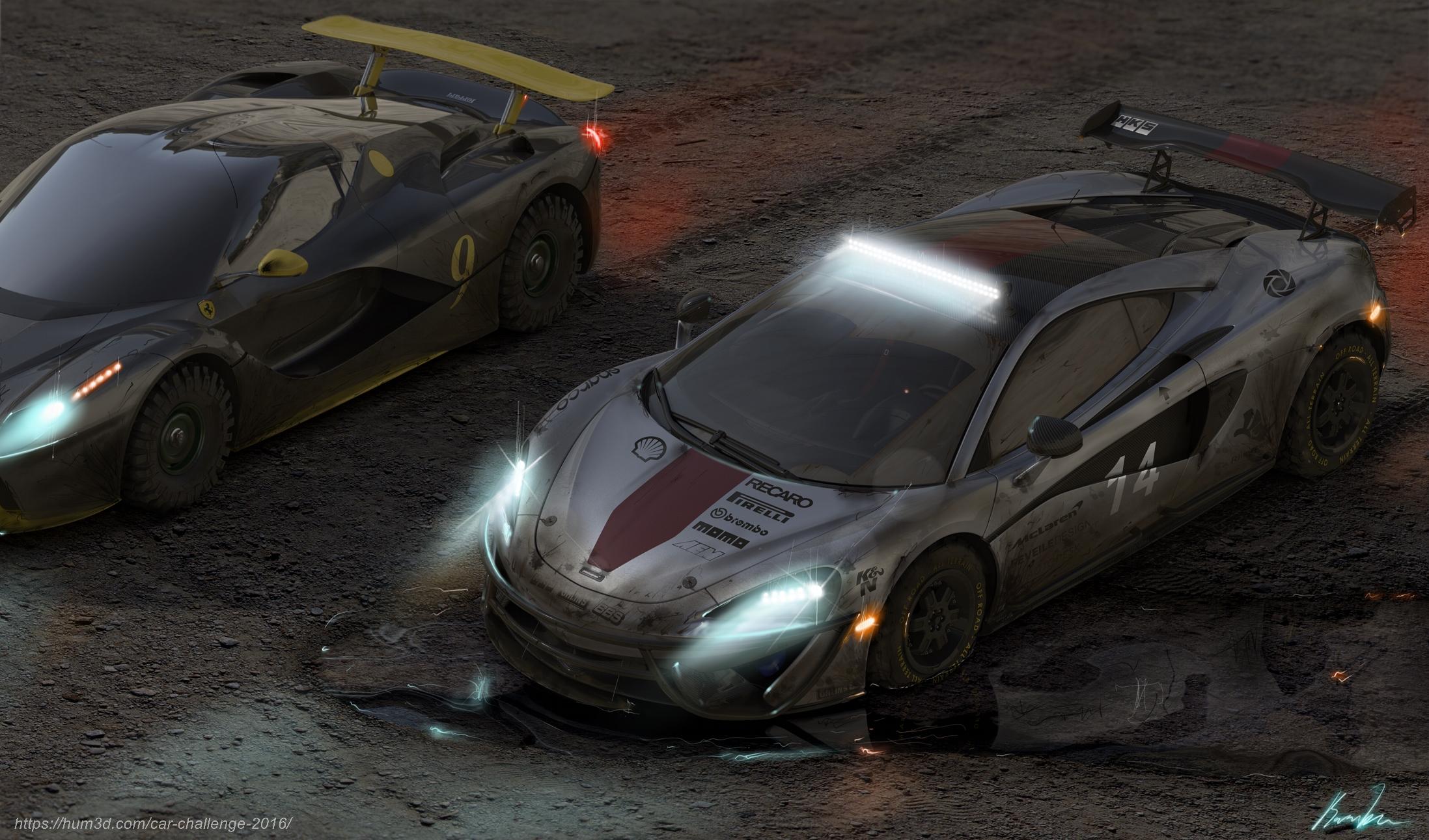 Supercar offroad race 3d art