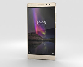 3D model of Lenovo Phab 2 Plus Champagne Gold