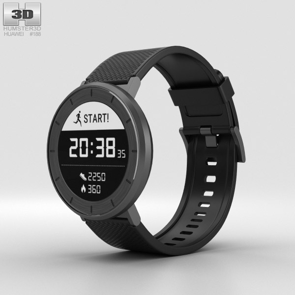 Huawei Fit Grey with Black Band 3D model