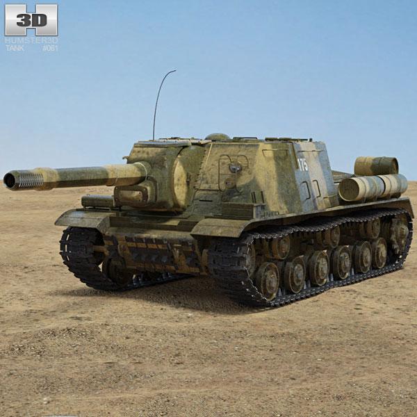ISU-152 3D model