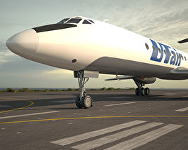 3D model of Tupolev Tu-134