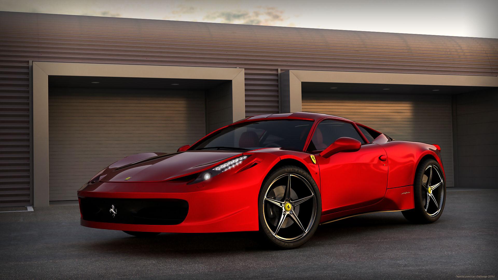 458 Ferrari 3d art