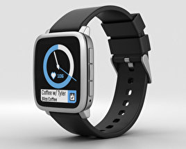 Pebble Time 2 Silver 3D model