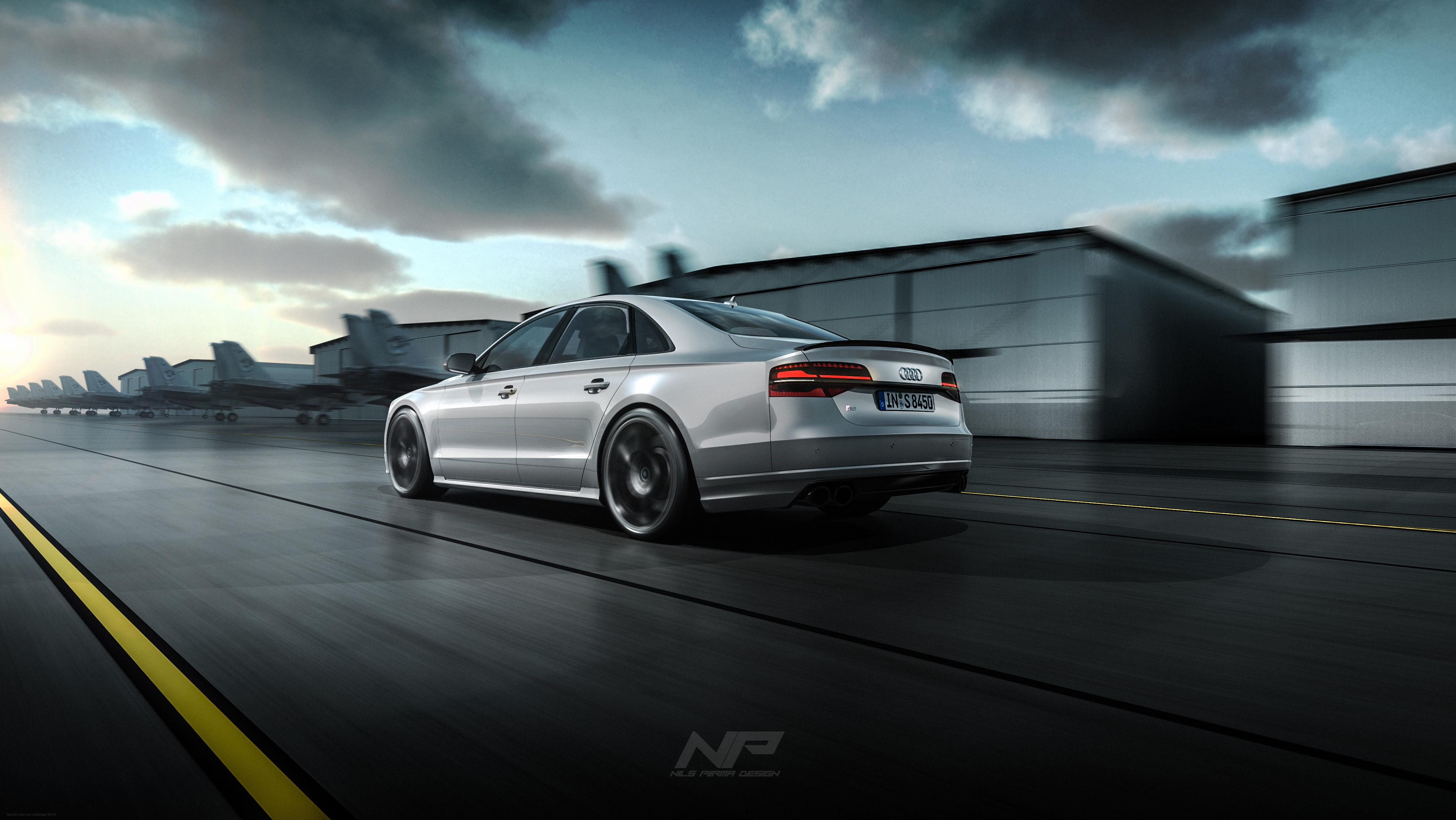 Audi S8 Plus 3d art