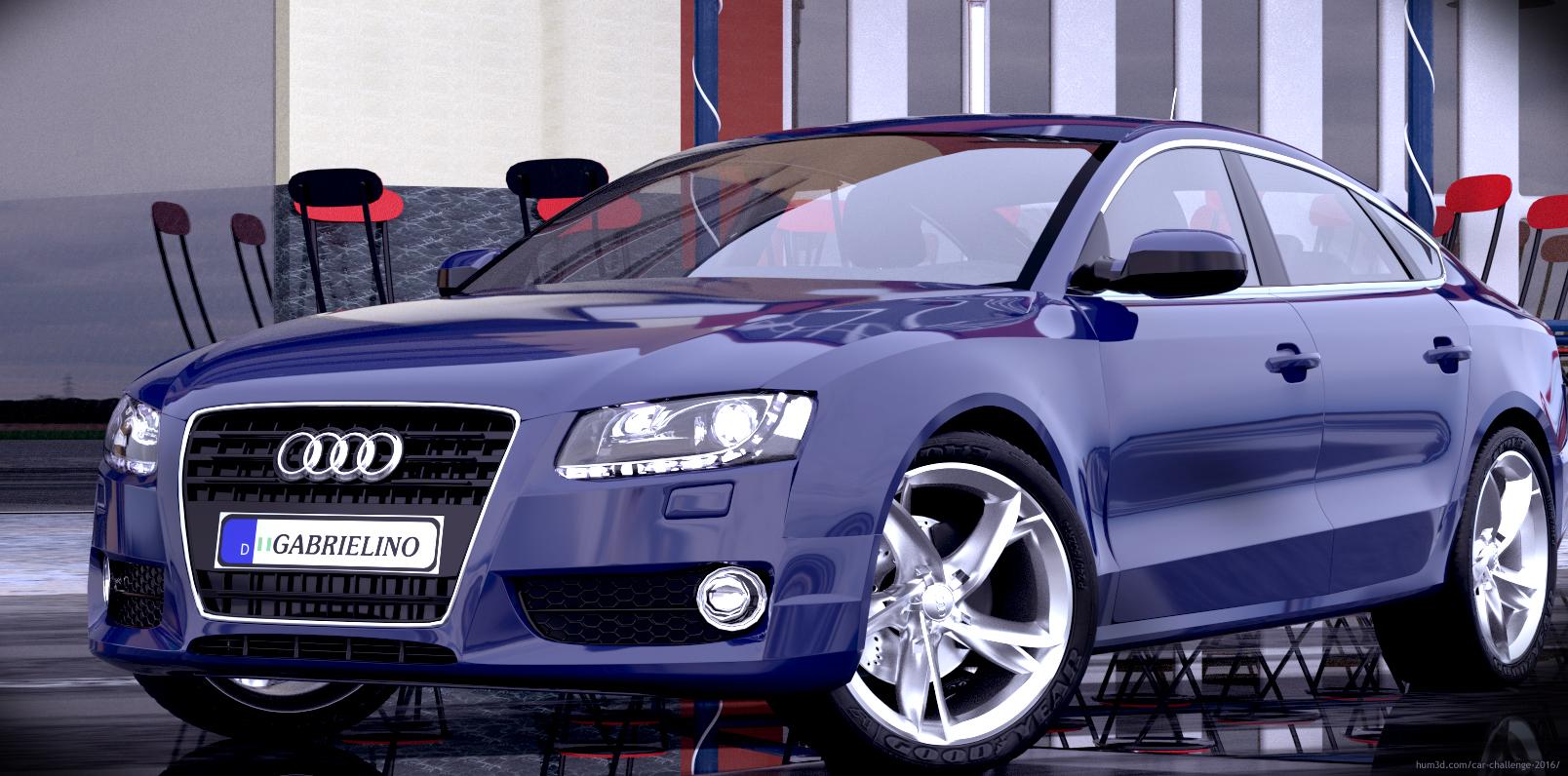 Audi A5 sportback 2007 3d art
