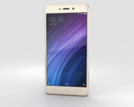 3D model of Xiaomi Redmi 4 Gold