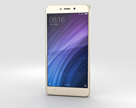 3D model of Xiaomi Redmi 4 Prime Gold