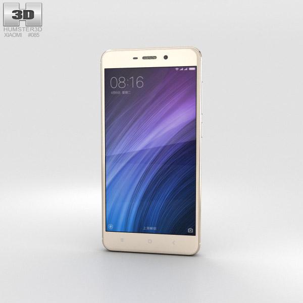 Xiaomi Redmi 4 Prime Gold 3D model