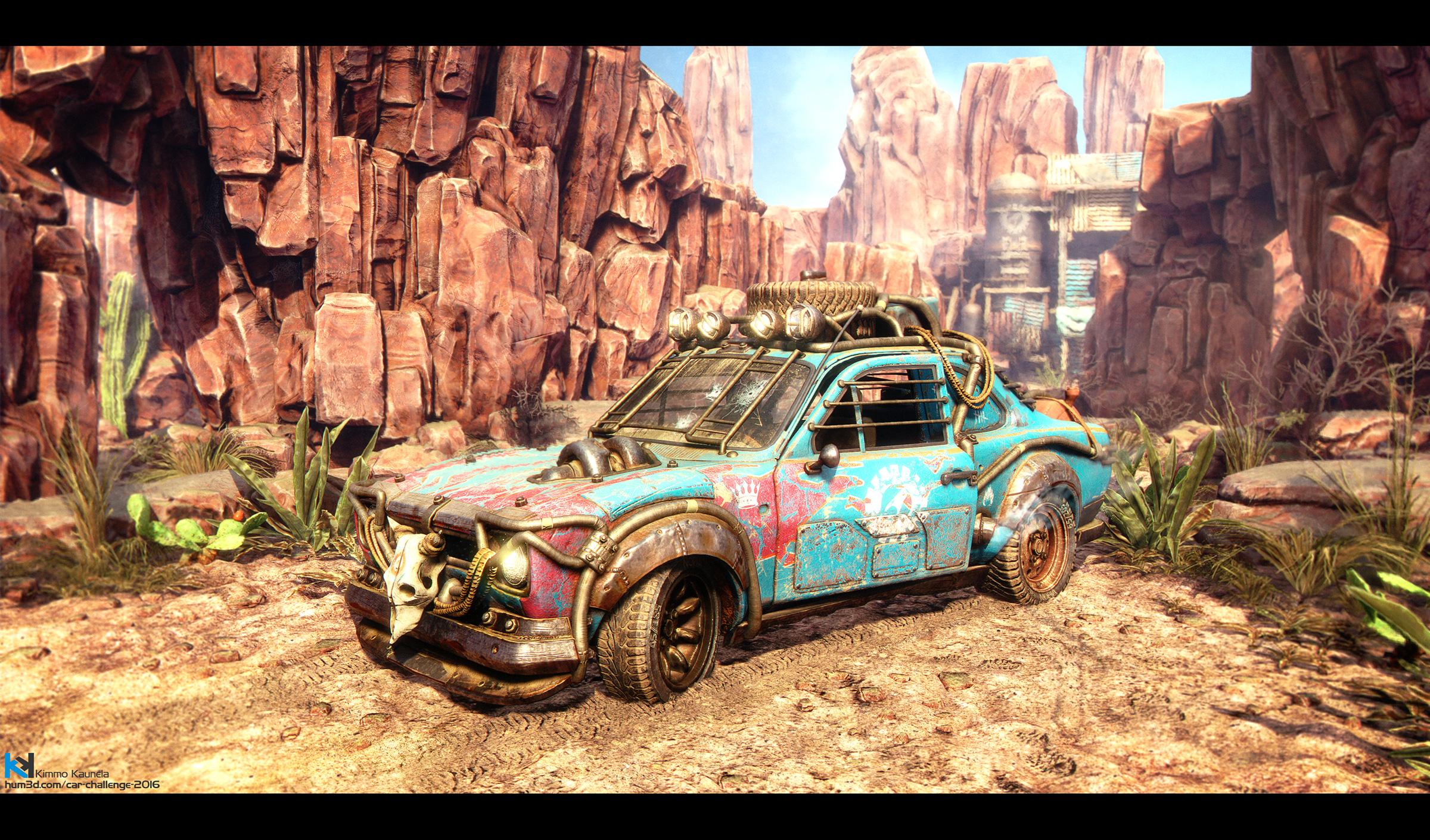 Desert Express - Ford Escort MKI 3d art