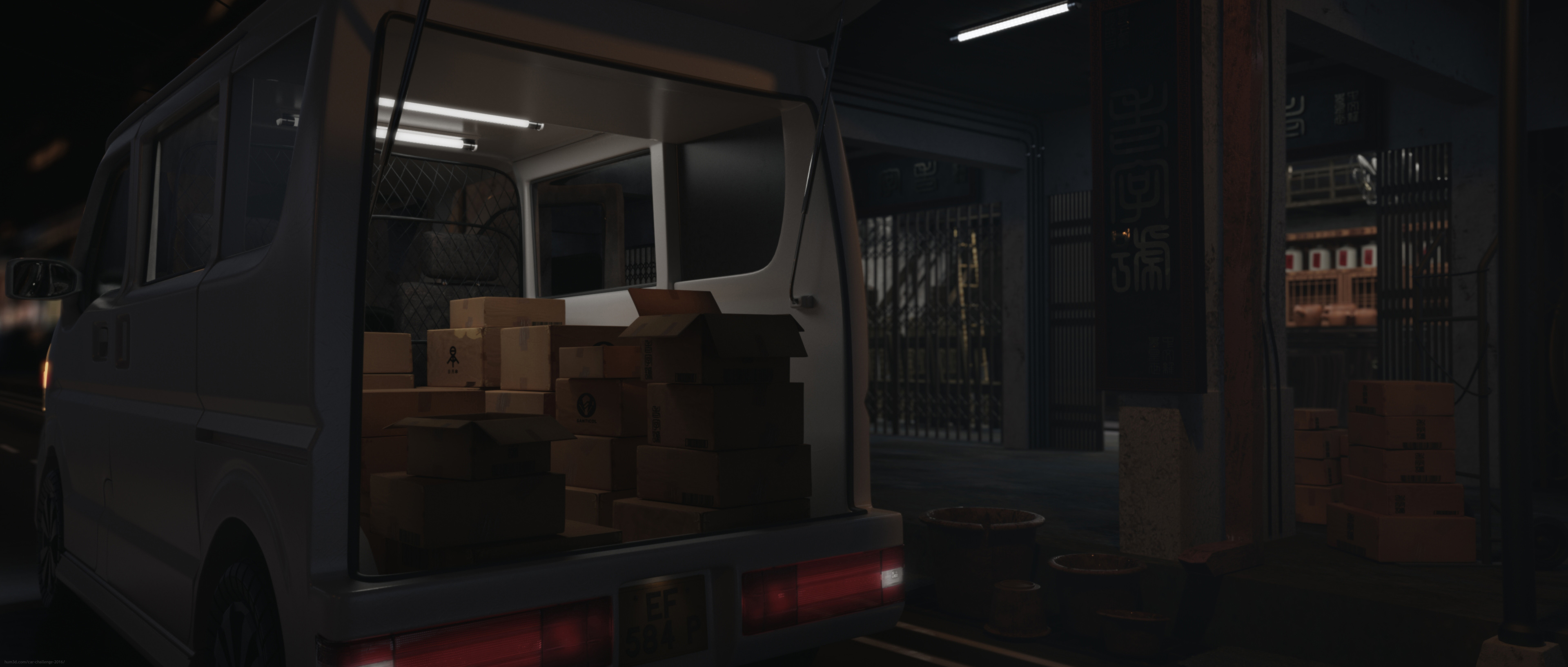 Late Night Delivery 3d art
