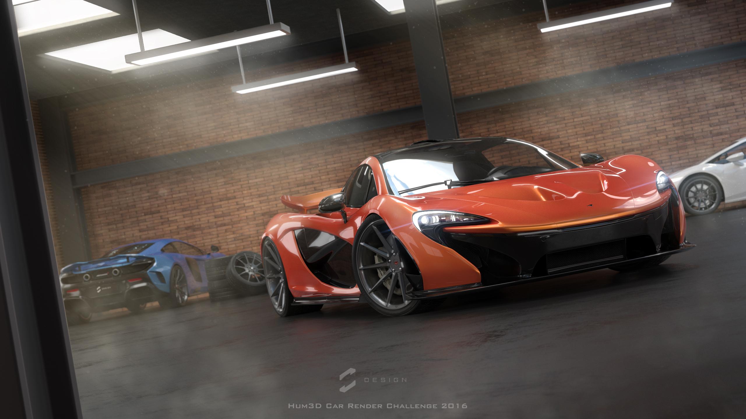 Supercar Garage 3d art