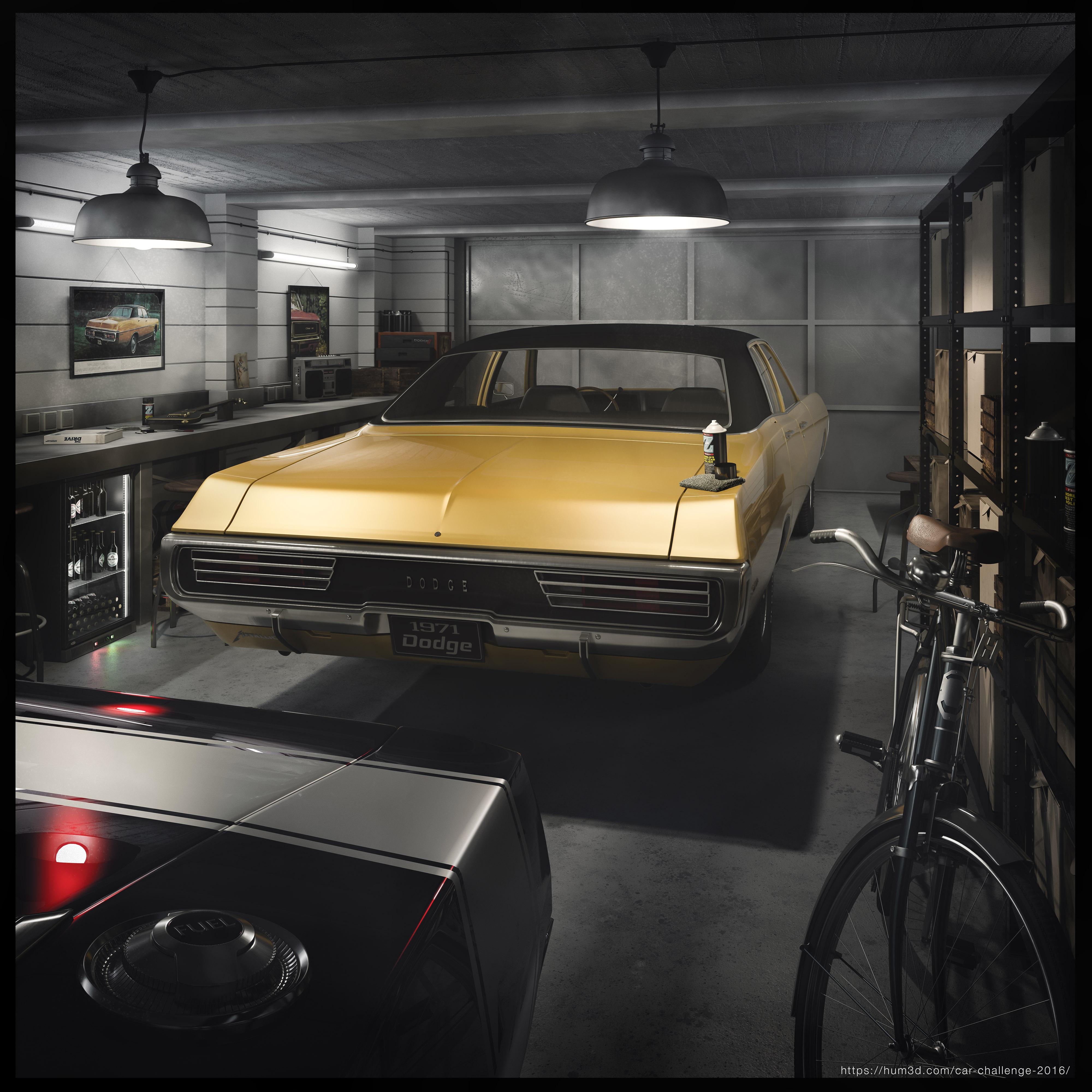Dodge Garage 3d art