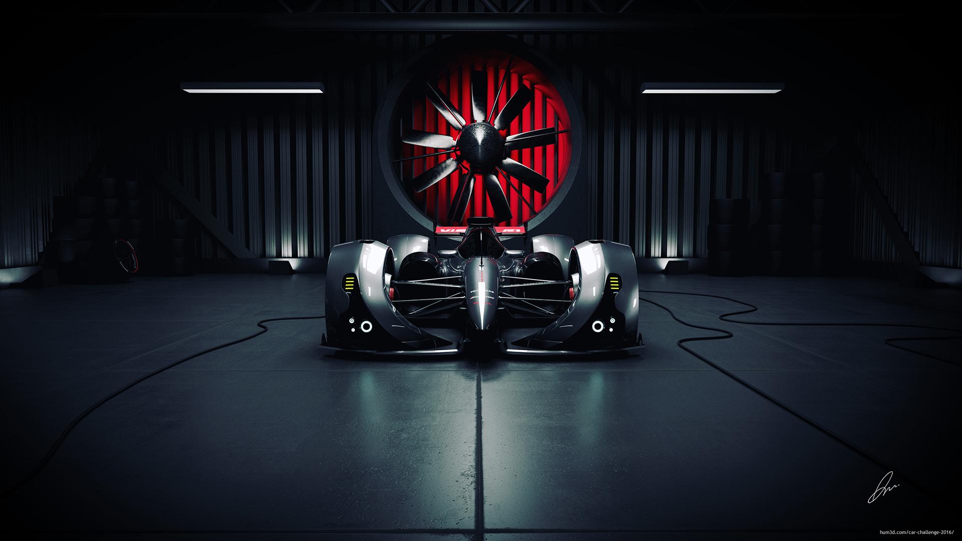 F1 Vision 3d art