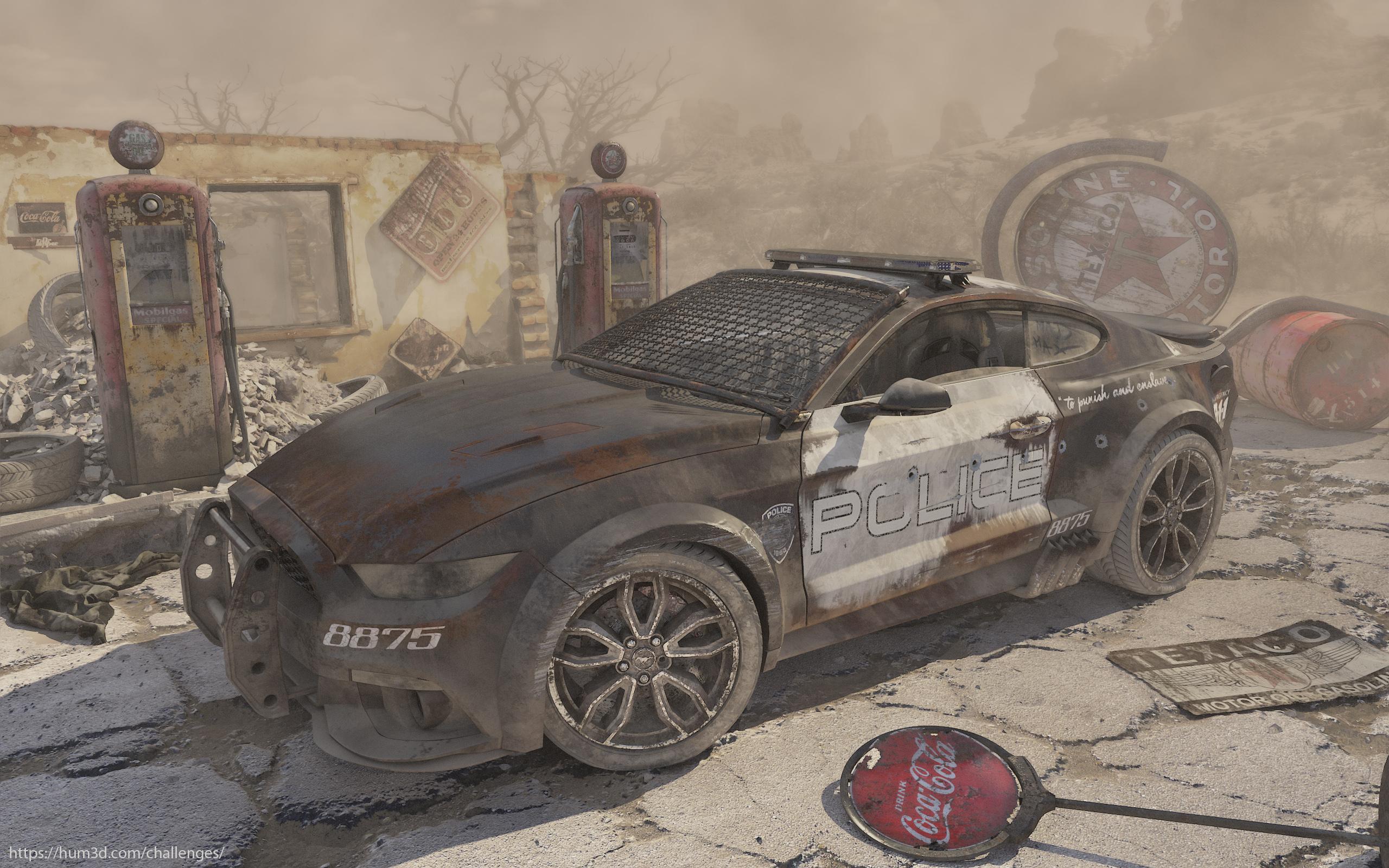 Post-apocalyptic world 3d art