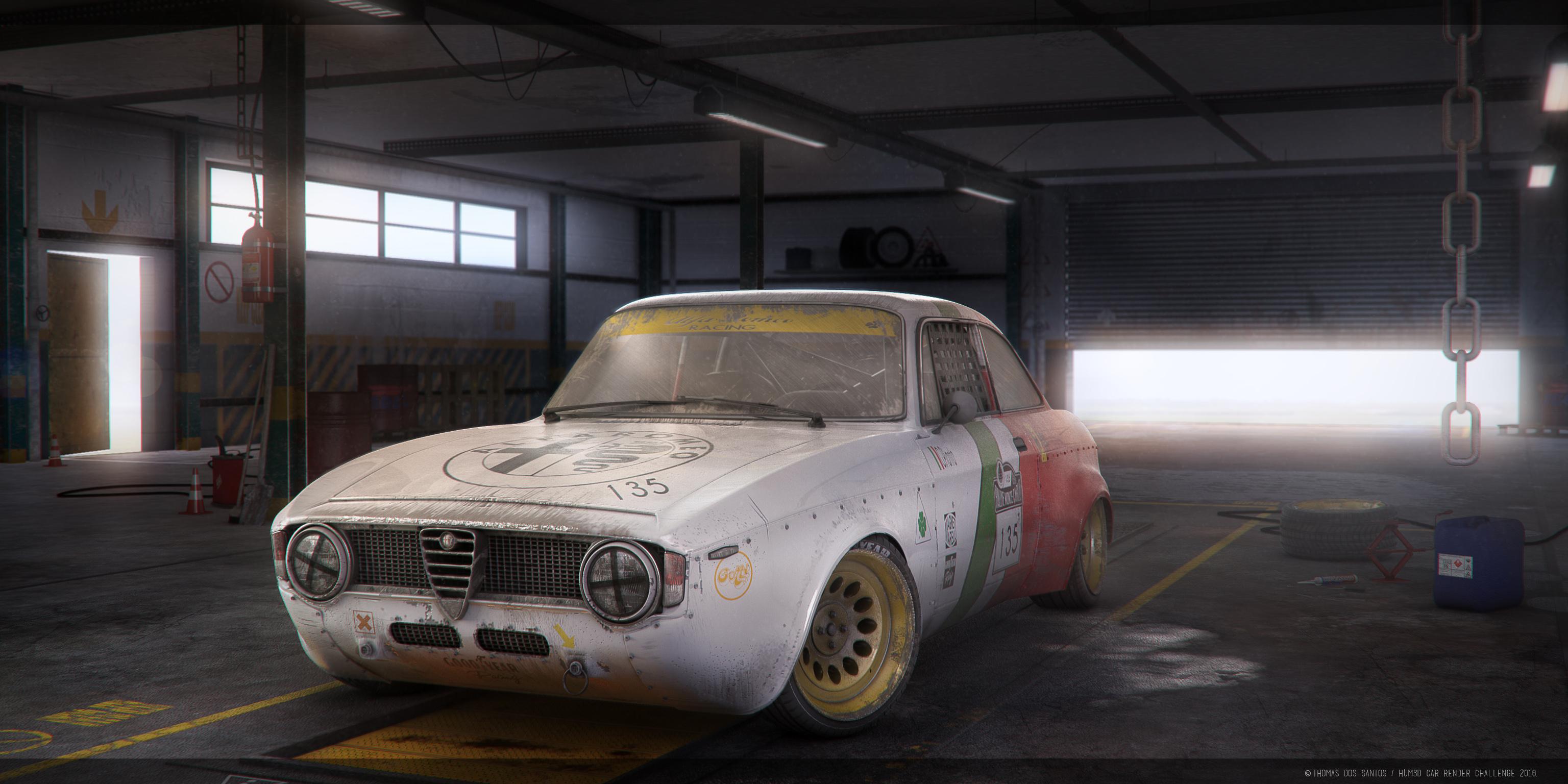 Alfa Romeo Giulia 3d art
